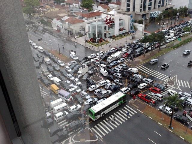 Deadlock trafic jam somewhere in the US
